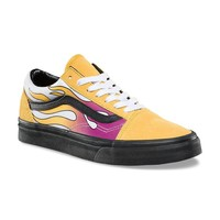 qiyif Vans Old Skool Yellow Flame Sneaker - Banana/Black