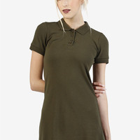 90's DEADSTOCK Polo Dress! ~ Olive Green