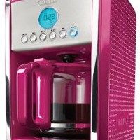 BELLA 13913 Dots Collection 12-Cup Programmable Coffee Maker, Pink