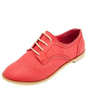 Lace-Up Brogue Oxford: Charlotte Russe