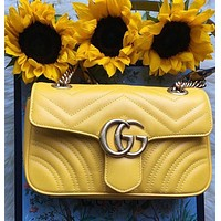 GG Solid Color Letter Retro Chain Messenger Bag Shoulder Bag Shopping Bag