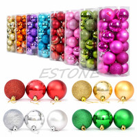 modern Christmas Tree Xmas Balls s Baubles Party wedding Orat 24pcs 4cm