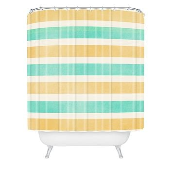 Allyson Johnson Summer Time Stripes Shower Curtain