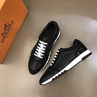 HERMES2021  Men Fashion Boots fashionable Casual leather Breathable Sneakers Running Shoes06270CX