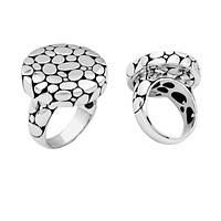 """AR-1027-S-9"""" Sterling Silver Ring With Plain Silver"""