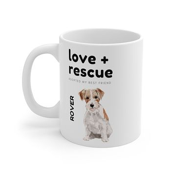 love + rescue Mug — Wire Haired Terrier