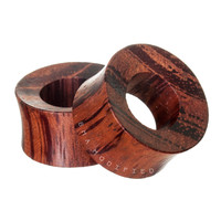 Red Rangas Tiger Wood Tunnels Plugs