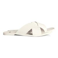 H&M Leather Slip-on Sandals $49.95