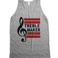 Treble Maker (tank)-Unisex Athletic Grey Tank