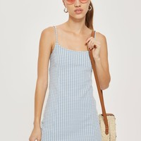 Gingham Mini Pinafore Dress | Topshop