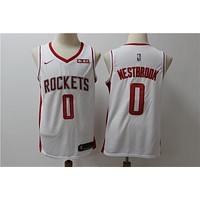 2019-2020 Houston Rockets 0 Russell Westbrook Swingman Jersey