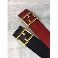 Fendi 2019 new fashion wild men and women retro simple smooth buckle belt