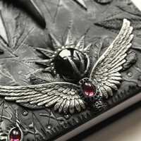 Polymer clay journal -Immortal Heart- Snow white and the huntsman - secret diary- sketchbook- fantasy steampunk gothic Lolita OOAK