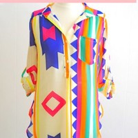 The Impeccable Pig - Bright Tribal Top