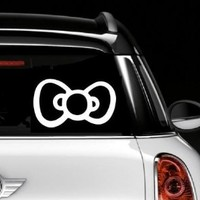 "HELLO KITTY BOW ~ AUTO DECAL, 8"" X 12"""