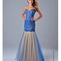 Nina Canacci 7311 Royal Blue Lace Mermaid Dress 2015 Prom Dresses