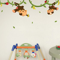 Nursery wall decals - Monkeys Gone Bananas