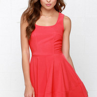 Home Before Daylight Coral Red Dress