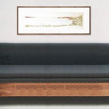 Reclaimed Wood Modern Industrial Custom Sofa