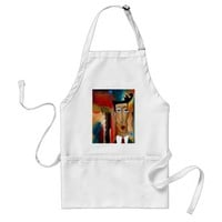 merger-abstract art adult apron