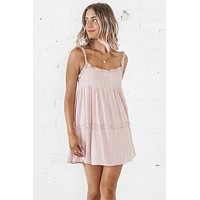 The Girls Room Powder Pink Babydoll Dress