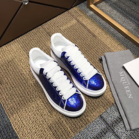 ALEXANDER MCQUEEN Men's Leather Fashion Low Top Sneakers Shoes