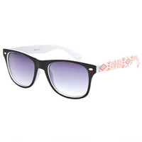 Full Tilt Tribal Wayfarer Sunglasses White Combo One Size For Women 25388716701