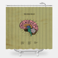 The Human Brain Shower Curtain