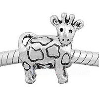 European charm metal bead cow