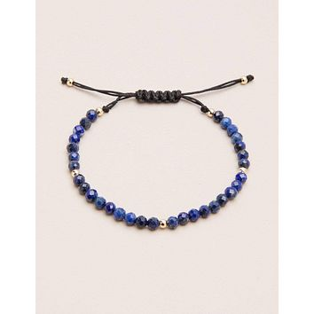 Lapis String Mini Gemstone Bracelet