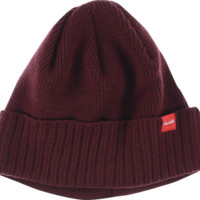 Chocolate Skateboards Red Square Loop Beanie Burgundy