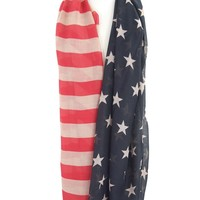 USA Flag- 4th of July USA Patriotic Scarf American Flag Design Large Fashion Scarf
