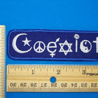 COEXIST PATCH MULTI RELIGION CHRISTIAN JEWISH ISLAM PEACE BUDH HARMONY