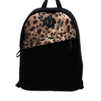 ASOS Backpack with Leopard Print Panel