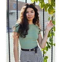 Angie Scalloped Tee