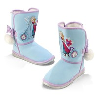 Licensed cool NEW Disney Store Frozen Anna & Elsa Winter Boots Faux Leather & Fur Lining  8-12