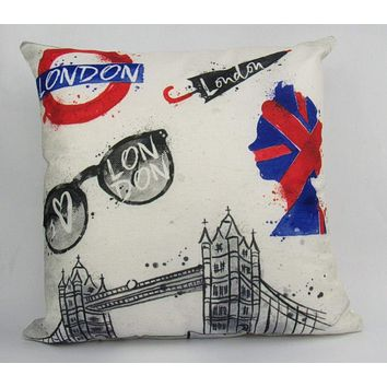 Great Britain   London England   Pillow Cover   Throw Pillow   Home Decor   London Bridge   Gifts for Travelers   Unique Friend Gift