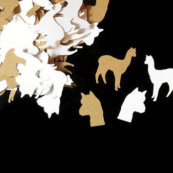 alpaca confetti, party decorations, alpacas, llama, llamas, farm animals, 100CT, childrens birthday,alpaca lovers wedding