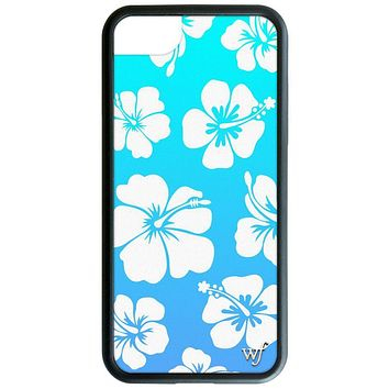 Wildflower Blue Hibiscus iPhone 6/7/8 and 6/7/8 Plus Phone Case