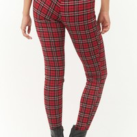 High-Rise Plaid Leggings