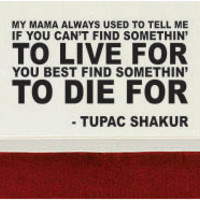 Tupac Find Something to Live For Decal Quote Sticker Wall Vinyl Art Decor