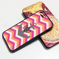 iPhone 6 case Monogram anchor Personalized iphone case,ipod case,samsung galaxy case plastic rubber case waterproof W168
