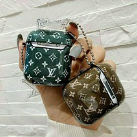 Louis Vuitton LV Airpods Apple Earphone Protective Case 2nd Generation Wireless Bluetooth LV Earphone Case Small Pendant Soft Shell