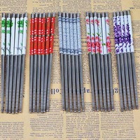 Nice 1 Pairs 23cm Stainless Steel Sliver Chopsticks Chinese Reusable Non-Slip Hashi Sushi Sticks Kitchen Accessories