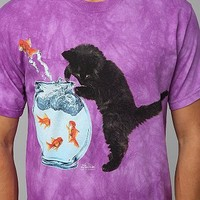 Cat And Fishbowl Tee