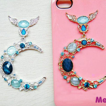 1 Piece Moon Goddess Bling Gem Luxury Alloy Flat Back Accessories  Kawaii Cabochon DecoDen on Craft Phone Case DIY Deco AA1167