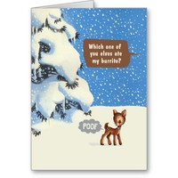 who ate santa's burrito? card