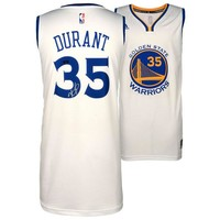 Autographed Golden State Warriors Kevin Durant White Swingman Jersey - Panini
