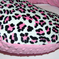 Pink Cheetah Minky Nursing Pillow Cover- Boppy or Jolly Jumper-  Ships in 1-3 Days