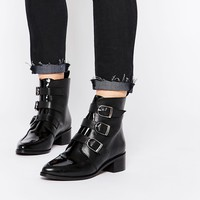 ASOS ADDICTED TO YOU Leather Ankle Boots